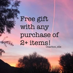 Free gift w/ any purchase of 2+ items!